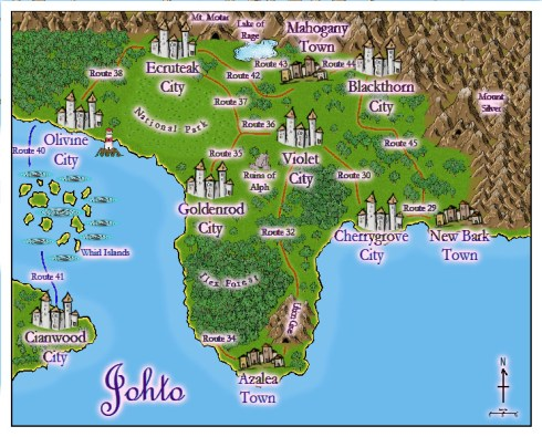 Map of Johto (Rescaled Names)