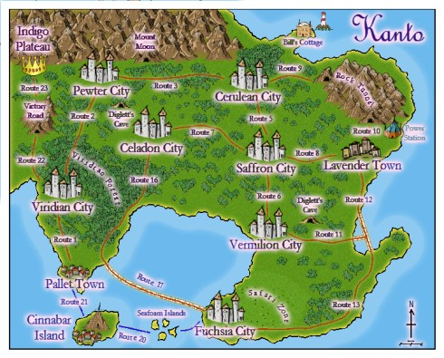 Map of Kanto (ws)